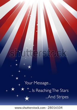 USA styled sunburst - stock vector