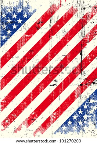 USA texture background. American grunge poster for you. - stock vector