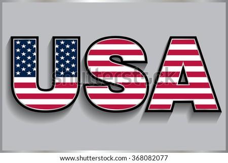 USA vector symbol.USA flag icon. - stock vector