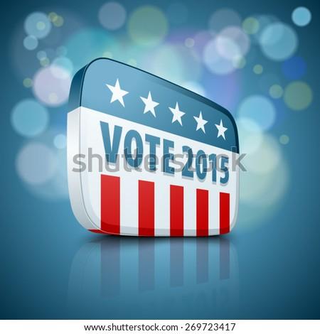 USA Vote 2015 - stock vector