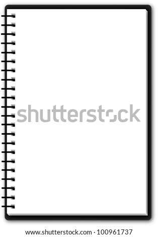 Usable notepad (single page) - stock vector