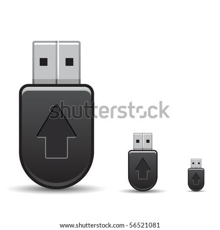 USB flash drive icon - stock vector