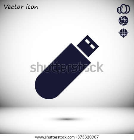 USB flash drive icon vector - stock vector