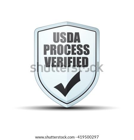 USDA Process Verified shield sign - stock vector