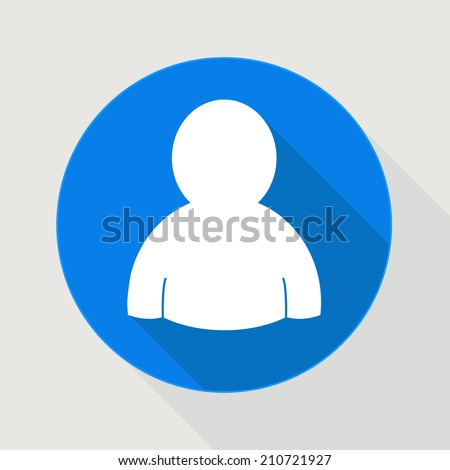 user blue icon member or service - stock vector