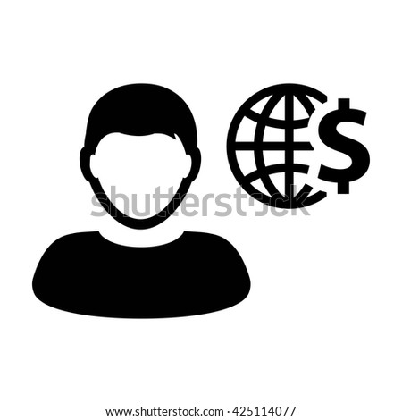 User Icon with Dollar - Vector - stock vector