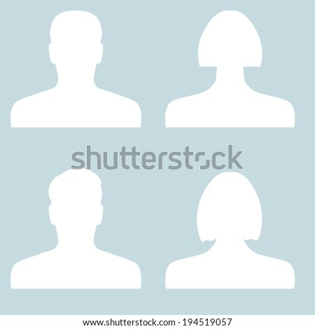 user icons for web - stock vector