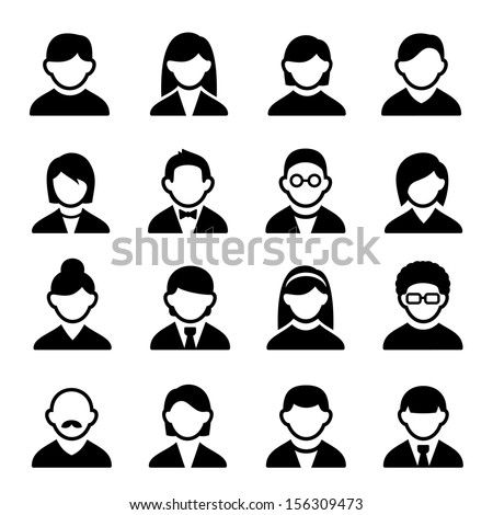 User icons set 1 - stock vector