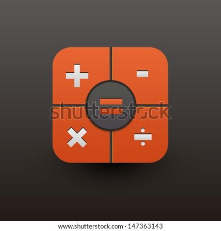 User interface calculator icon  - stock vector