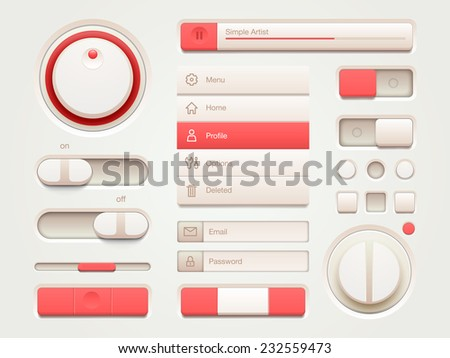 User interface elements - stock vector
