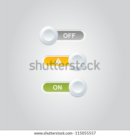 User interface power sliders - stock vector
