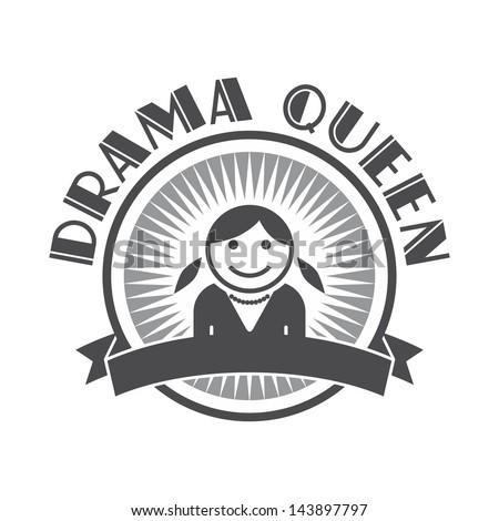 user picture drama queen - stock vector