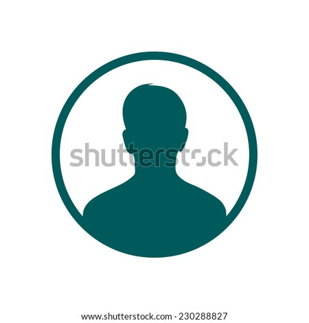 User sign icon. Person symbol. Human avatar.Flat style. EPS 10. - stock vector