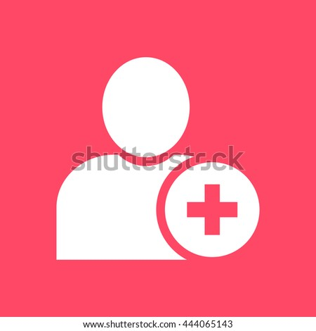 User white icon on magenta color background. Eps-10. - stock vector