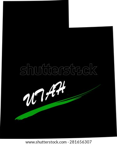 Utah map vector in black and white background, Utah map outlines in a new design - stock vector
