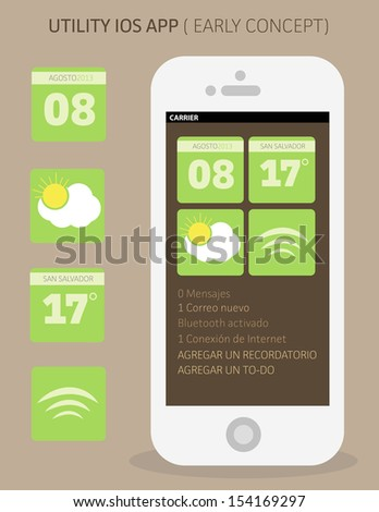 Utility App Early Concept - stock vector