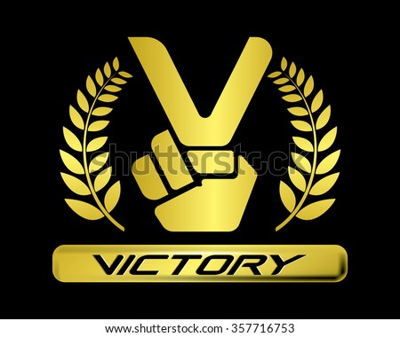 Victory Sign Sto...V For Victory Sign