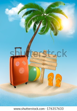 Vacation background. Vector. - stock vector
