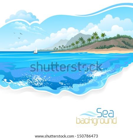 Vacation in Bahamas  - stock vector