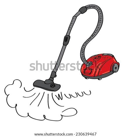 vacuum cleaner - stock vector