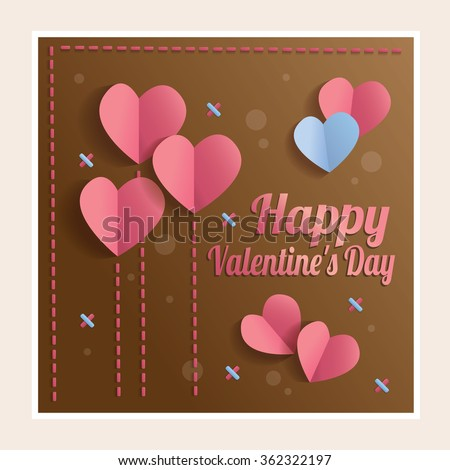 Valentine card. Happy Valentine's day. Template cards for Valentine's Day - stock vector