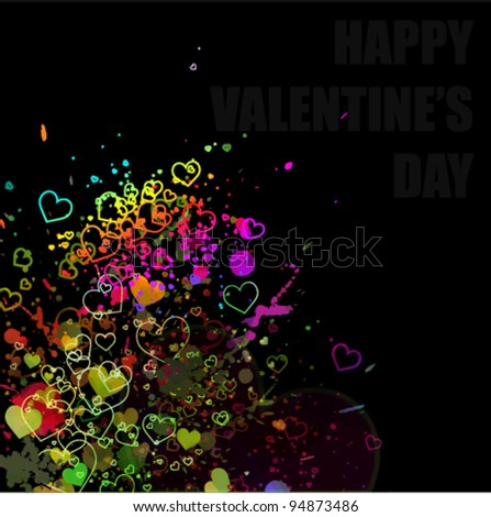 Valentine concept abstract watercolor splash background illustration - stock vector