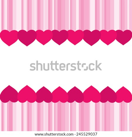 valentine day banner or greeting design vector - stock vector