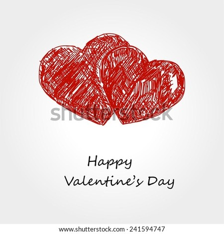 Valentine day hearts - stock vector