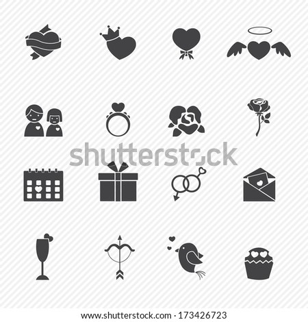 Valentine day love icons - stock vector