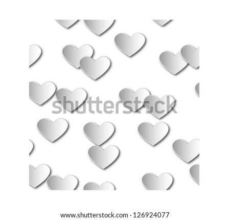 valentine day seamless background - stock vector