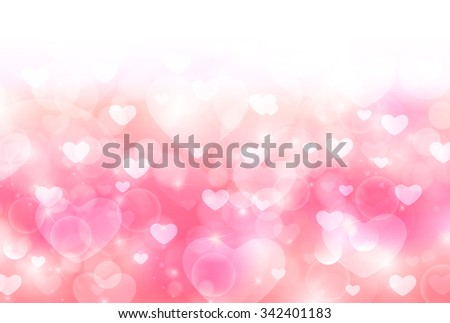 Valentine Heart cute background - stock vector