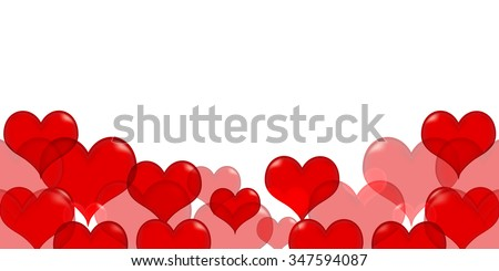 Valentine Heart red background - stock vector