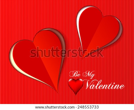 Valentine love hearts for any occasion. Vector illustration - stock vector