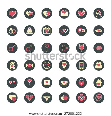 Valentine Love Vector Icons - stock vector