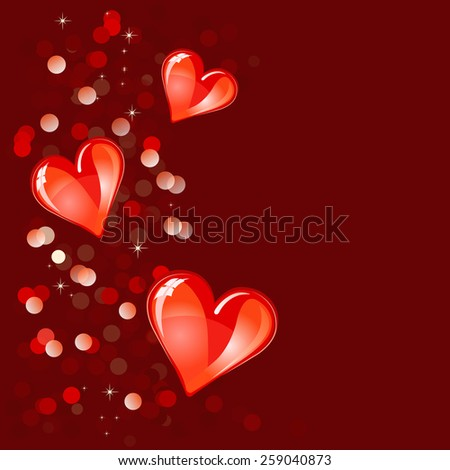 Valentine or  Wedding Background or Backdrop  - stock vector