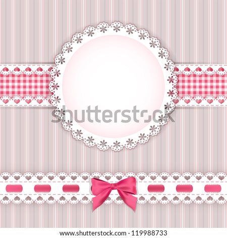 Valentine`s background with frame. Vector illustration. - stock vector