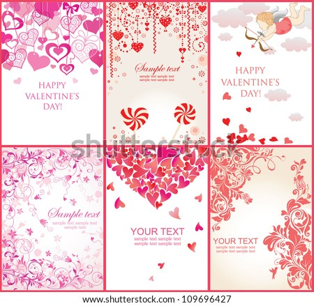 Valentine's banners - stock vector