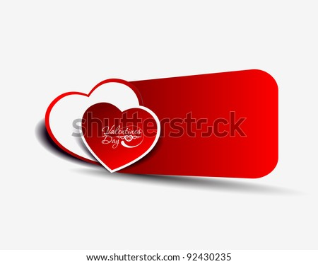 valentine's day background, vector illustration. - stock vector