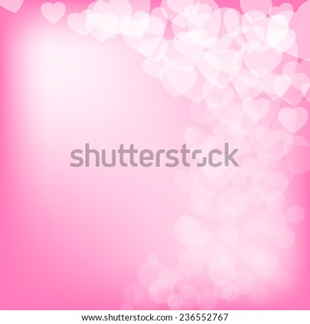 Valentine's day background with hearts and copy space - stock vector