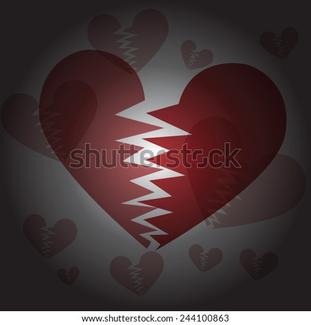 Valentine's day background with hearts. So sad valentine's day - stock vector