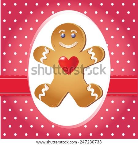 Valentine's day card. Elements for cards, gifts, crafts, invitation. Vector illustration. - stock vector