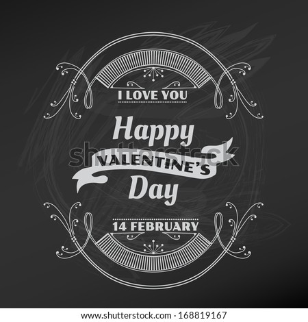 Valentine's Day Card - for scrapbook and design in vector - stock vector