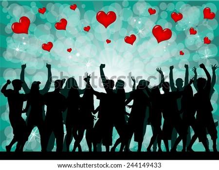 Valentine's Day Event  - stock vector