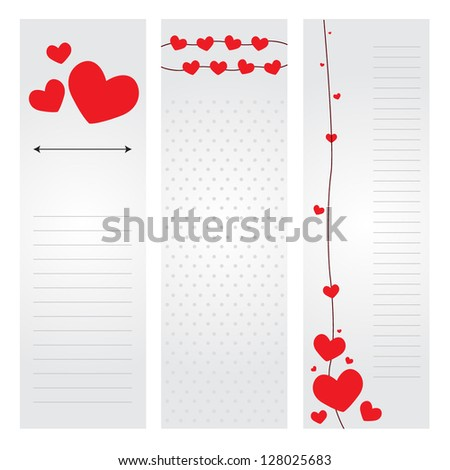 Valentine's day greeting card design - stock vector