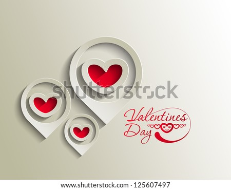 valentine's day heart background, vector illustration. - stock vector