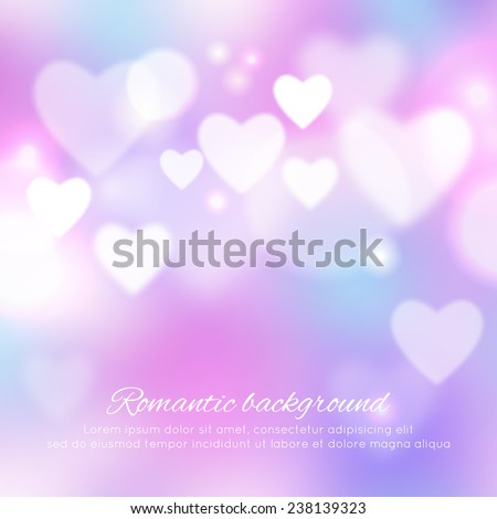 Valentine's day romantic background. Vector ilustration - stock vector