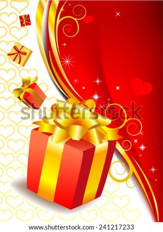 Valentine's present - stock vector