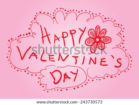 Valentine's Sketch Card - stock vector