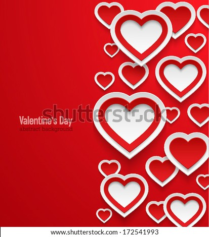 Valentines day abstract background. Vector illustration. - stock vector