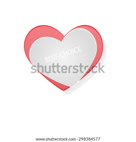 Valentines day. Abstract paper hearts. Love - Illustration Love, Heart Shape, Animal Heart, Human Heart, Heart Suit  - stock vector